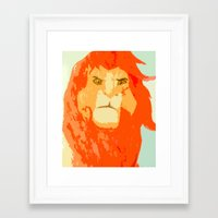 simba Framed Art Prints featuring Simba by Makayla Wilkerson