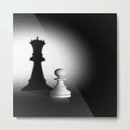 Pion Chess Metal Print