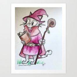 Wizard Kitty Art Print