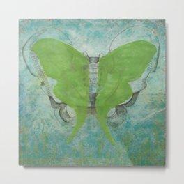 Luna Moth Pelvis Two Metal Print