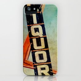 Vintage Liquor Sign iPhone Case