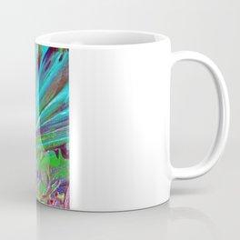 COLOR CHAOS Wild Vibrant Colorful Abstract Acrylic Painting Lime Green Plum Purple Gift Art Decor Coffee Mug