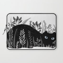 Garden Cat Black And White Laptop Sleeve