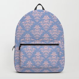 Damask Pattern | Serenity and Rose Quartz | Pantone Colors of the Year 2016 Backpack
