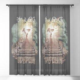 Red Zeppelin - Stairway to Heaven Sheer Curtain
