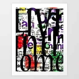 Abstract Text Art Print