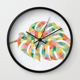 Monstera Colora Wall Clock