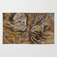 kittens Area & Throw Rugs featuring Sleeping Kittens by Michael Creese