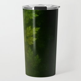 Beautiful Fractal Pines in the Misty Spring Night Travel Mug