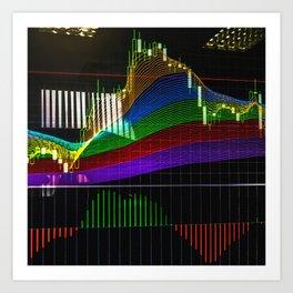 "Сandlestick chart with ""Rainbow"" indicator Art Print"