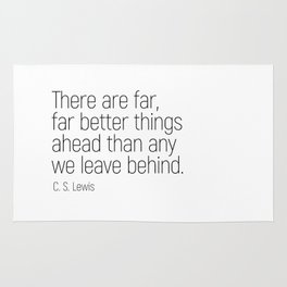 Better Things Ahead #minimalism #quotes #motivational Rug
