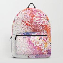 Flowers Illustration Art Backpack