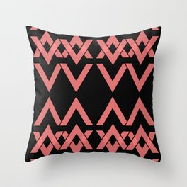 new triangle pattern Throw Pillow