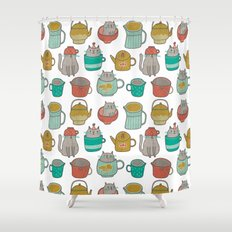 Pattern Project #5 / Cats and Pots Shower Curtain