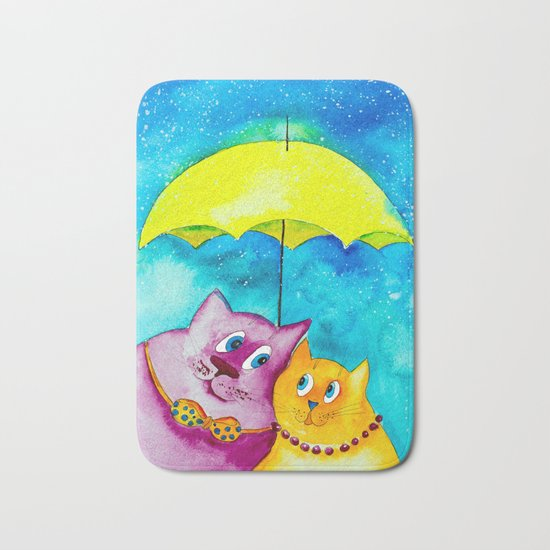 Two under the umbrella Bath Mat