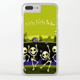 """""""Don't Stop, Don't Stop The Dance (Halloween Party)"""" Clear iPhone Case"""