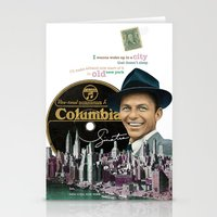 frank sinatra Stationery Cards featuring Frank Sinatra - New York by Dots Studio