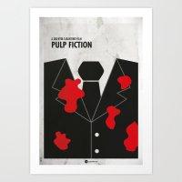 Pulp Fiction minimal film Poster Art Print