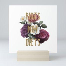 Riots not Diets Mini Art Print