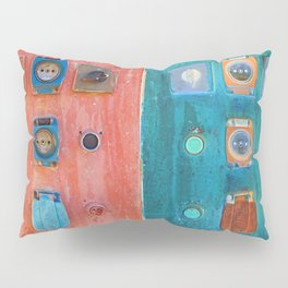 switch and plug on an electrical panel Pillow Sham