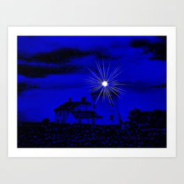 Eerie Cromer Lighthouse Art Print