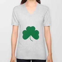 Lucky Irish Shamrock Unisex V-Neck