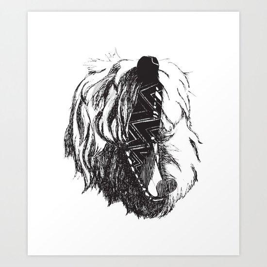 Yawning George Art Print