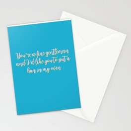 Put A Bun In My Oven Stationery Cards