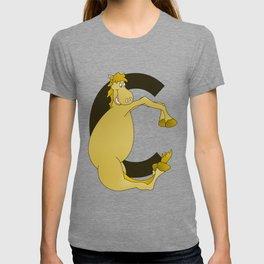 Pony Monogram Letter C T-shirt