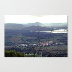 Fields outside Hobart Canvas Print