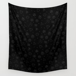 sacred seamless black Wall Tapestry