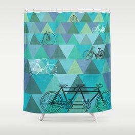 Tour de'Triangle Shower Curtain