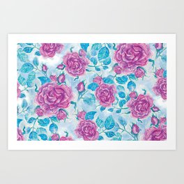 Evening Rose Art Print