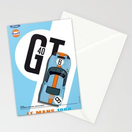 GT40 Le Mans 1968 Rodriguez-Bianchi Stationery Cards