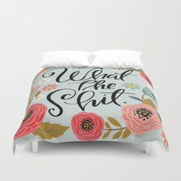 Pretty Sweary: What The Shit Duvet Cover