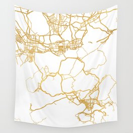 HONG KONG CHINA CITY STREET MAP ART Wall Tapestry