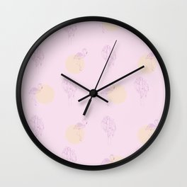 In pink Wall Clock