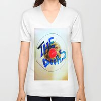 doors V-neck T-shirts featuring The Doors by SLIDE