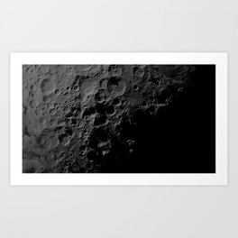 Moon Craters Art Print