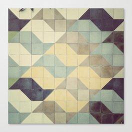 São Paulo Tile Pattern Canvas Print