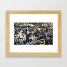 Pierre-August Renoir's Bal du moulin de la Galette Framed Art Print