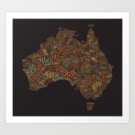 Indigenous Australia Art Print
