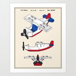 Toy Airplane Patent Art Print