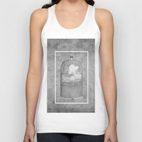 cage Tank Tops featuring Cloud Cage by Mehdi Elkorchi