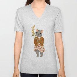 cat berry Unisex V-Neck