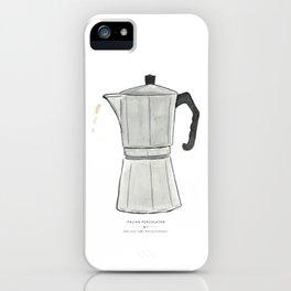 Italian Percolator Coffee iPhone Case