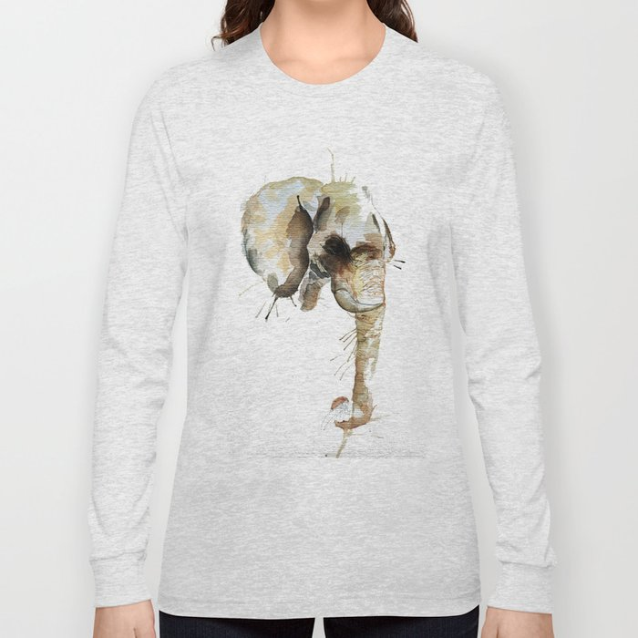 Elephant Head Long Sleeve T-shirt