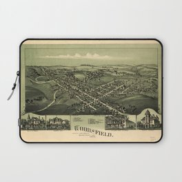 Aerial View of Woodsfield, Monroe County, Ohio (1899) Laptop Sleeve
