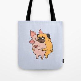 Friend Not Food Pug Tote Bag