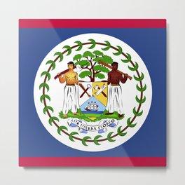 Belize flag emblem Metal Print